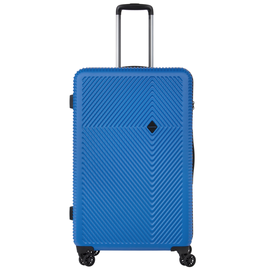 Troler Mare Policarbonat/ABS, Cifru TSA, Cod unic OKOBAN, CarryOn CONNECT, 77 cm, Albastru