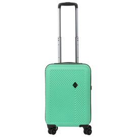 Troler Cabina Policarbonat/ABS, Cifru TSA, USB incorporat, Cod unic OKOBAN, CarryOn CONNECT, 55 cm, Verde