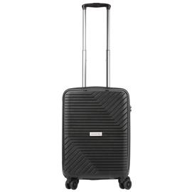 Troler Cabina, Polipropilena, Cifru TSA, USB incoporat, Cod unic OKOBAN, CarryOn TRANSPORT, 55 cm, Negru