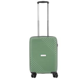 Troler Cabina, Polipropilena, Cifru TSA, USB incoporat, Cod unic OKOBAN, CarryOn TRANSPORT, 55 cm, Verde