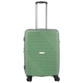 Troler Mediu Extensibil, Polipropilena, Cifru TSA, Cod unic OKOBAN, CarryOn TRANSPORT, 67.5 cm, Verde