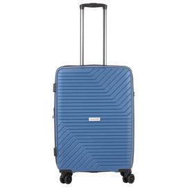 Troler Mediu Extensibil, Polipropilena, Cifru TSA, Cod unic OKOBAN, CarryOn TRANSPORT, 67.5 cm, Albastru