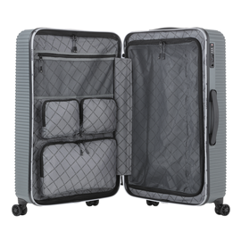 Troler Mare ABS/PC, Cifru TSA, CarryOn CONNECT, 77 cm, Antracit