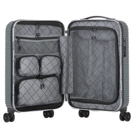 Troler Cabina ABS/PC, Cifru TSA, USB incorporat, CarryOn CONNECT, 55 cm, Antracit