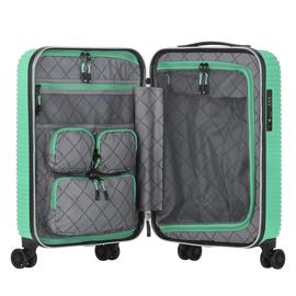 Troler Cabina ABS/PC, Cifru TSA, USB incorporat, CarryOn CONNECT, 55 cm, Verde