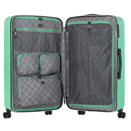 Troler Mare ABS/PC, Cifru TSA, CarryOn CONNECT, 77 cm, Verde
