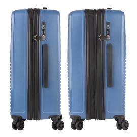 Troler Mediu Extensibil, Polipropilena, Cifru TSA, CarryOn TRANSPORT, 67.5 cm, Albastru