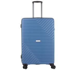 Troler Mare, Polipropilena, Cifru TSA, Cod unic OKOBAN, CarryOn TRANSPORT, 78.5 cm, Albastru
