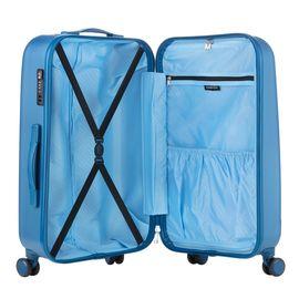 Troler Mare, Policarbonat/ABS, 4 Roti Duble, cod unic OKOBAN, cifru TSA, CarryOn SKYHOPPER, 78.5 cm, Albastru