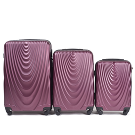 Set Trolere WINGS FALCON ABS 3 Piese Burgundy
