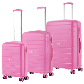 Set Troler Polipropilena TravelZ BIG BARS 4 Roti Roz