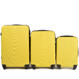 Set Trolere WINGS FALCON ABS 3 Piese Galben