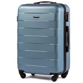 Troler Mediu WINGS CAMARO ABS 4 Roti 65 cm Albastru