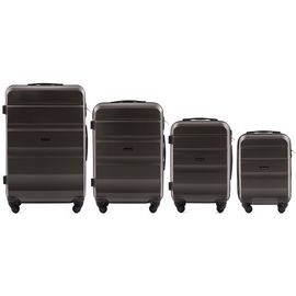 Set Trolere WINGS ABS 4 Roti AT01- 4 Piese Antracit