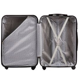 Troler Cabina WINGS ABS 4 Roti AT01- 55 cm Antracit