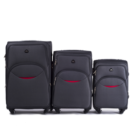 Set Trolere WINGS EAGLE 4 Roti 3 Piese Antracit