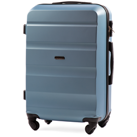 Troler Mediu WINGS ABS 4 Roti AT01- 66 cm Albastru