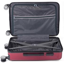 Troler Mediu ABS 4 Roti Benzi BZ 5418 - 65 cm Rosu