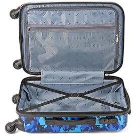 Troler Mediu Policarbonat/ABS 4 Roti Benzi BZ 5495 - 65 cm Albastru
