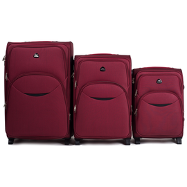 Set Trolere Extensibile WINGS EAGLE 2 Roti 3 Piese Rosu