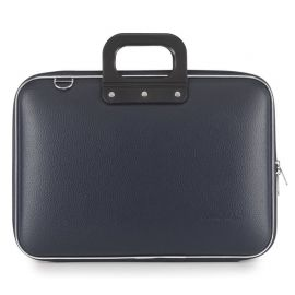 "Geanta lux business laptop 15"" Clasic vinil Bombata-Bleumarin"
