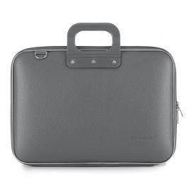 "Geanta lux business laptop 15"" Clasic vinil Bombata-Gri"