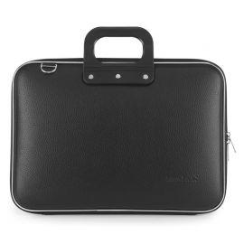 "Geanta lux business laptop 15"" Clasic vinil Bombata-Negru"