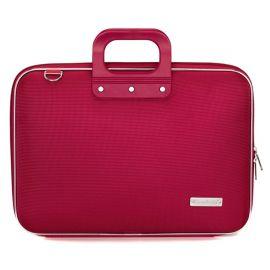 Geanta lux business laptop 15.6 in Clasic nylon Bombata-Rosu