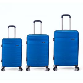 Set Trolere ABS 4 Roti Benzi BZ 5418 - 3 Piese Albastru