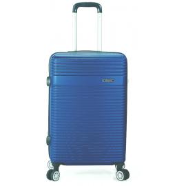 Troler Mediu ABS 4 Roti Benzi BZ 5418 - 65 cm Albastru