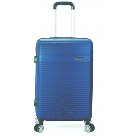 Troler Mare ABS 4 Roti Benzi BZ 5418 - 75 cm Albastru