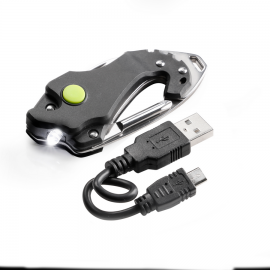 Cutit Multifunctional de buzunar cu dispozitiv luminos - tip incarcare USB MacGyver 102261