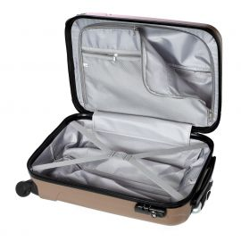 Troler Mediu Extensibil ABS 4 Roti Duble STELXIS ST 505 - 65 cm Negru