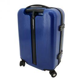 Troler Cabina Lamonza Astoria Policarbonat 4 Roti Duble Albastru 55 cm