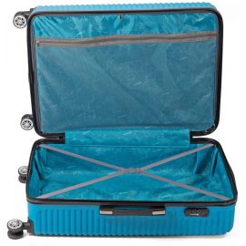 Set Trolere ABS 4 Roti Duble Benzi BZ 5492 - 3 Piese Bleumarin