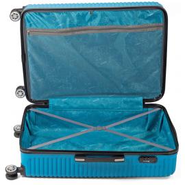 Troler Mediu ABS 4 Roti Duble Benzi BZ 5492 - 67 cm Bleumarin