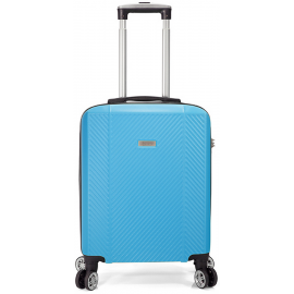Troler Cabina, ABS, 4 Roti Duble Detasabile, Cifru TSA, BENZI, BZ 5357 - 55 cm Albastru Deschis