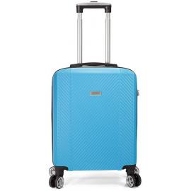 Troler Mediu ABS, 4 Roti Duble Detasabile, Cifru TSA, BENZI, BZ 5357 - 66 cm Albastru Deschis