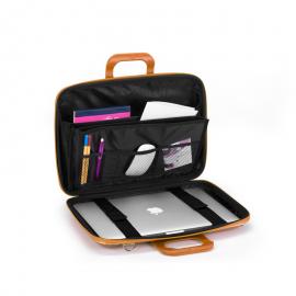 "Geanta lux business laptop 13"" Cocco Bombata-Alb"