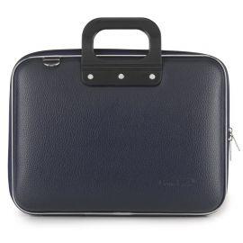 "Geanta lux business laptop 13"" Medio Bombata-Bleumarin"