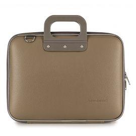 "Geanta lux business laptop 13"" Medio Bombata-Grej"