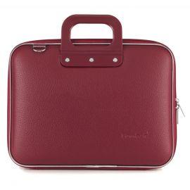 "Geanta lux business laptop 13"" Medio Bombata-Grena"