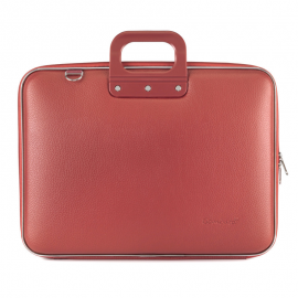 "Geanta lux business laptop 17"" Maxi Bombata-Coral"