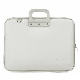 "Geanta lux business laptop 17"" Maxi Bombata-Gri"