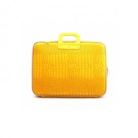 "Geanta lux business laptop 17"" Cocco-Galben"