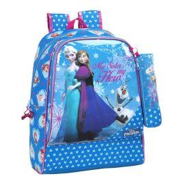 Ghiozdan + Penar Disney Frozen Anna si Elsa