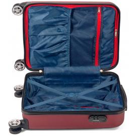 Set Trolere ABS 4 Roti Duble Benzi BZ 5526 - 3 Piese Galben