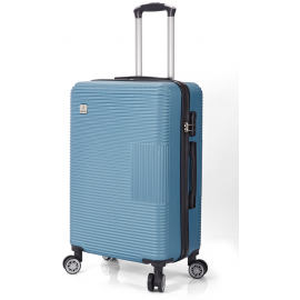 Troler Mediu ABS 4 Roti Duble Benzi BZ 5417 - 66 cm Albastru