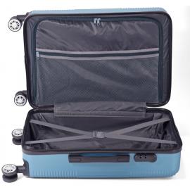 Set Trolere ABS 4 Roti Duble Benzi BZ 5417 - 3 Piese Albastru