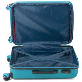 Set Trolere Extensibil ABS 4 Roti Duble Benzi BZ 5525 - 3 Piese Albastru Deschis
